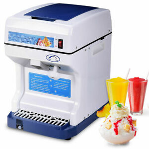Electric Ice Shaver Machine Tabletop Shaved Ice Crusher Ice Snow Cone Maker New