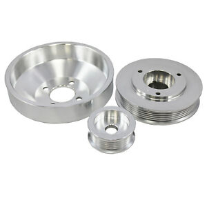 96 99 Ford Mustang Gt Cobra 4 6 3 Pc Under Drive Pulley Set Polished Aluminum