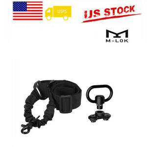 Best Single Point Tactical Rifle Gun Sling w Quick Release Bungee US STOCK $11.49
