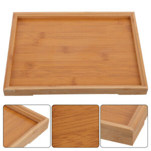 1pc Household Bamboo Serving Tray Tea Tray Food Storage Cake Fruit Serving Tray