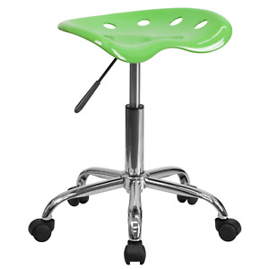 Adjustable High Task Stool Tractor Seat Comfortable Chair For Office Kitchen Bar