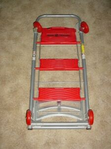 Total Trolley 42 Collapsible Hand Cart 4 In 1 Step Ladder Cart 150 Lb Max Load