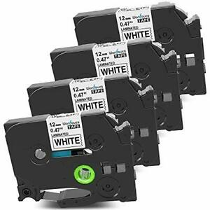 Wonfoucs Compatible Label Tape Replacement For Brother Label Maker Refills Tz