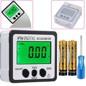 4 90 Digital Level Box Gauge Lcd Magnetic Inclinometer Angle Finder Protractor