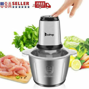 500w Electric Food Chopper Electric Stainless Steel Processor Meat Grinder Mixer