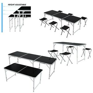 4 6ft Folding Table Aluminum Height Adjustable Portable Outdoor Camping Table Us