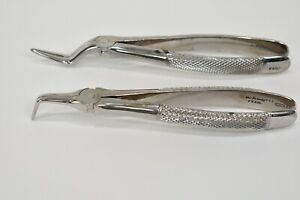 Dental Root Extraction Forceps Set Of 2 Hu friedy Upper Lower Serrated