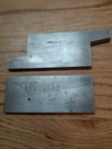 Starrett 154 f Adjustable Parallels Lot Of 2 Excellent Condition Made In Usa