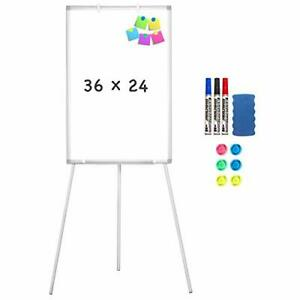 Easel Whiteboard Magnetic Portable Dry Erase Easel Board 36 X 36x24 silver