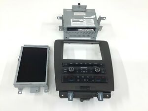 11 14 Ford Mustang Oem Gps Navigation Radio With Bezel And Climate Control