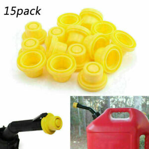 15 Pack Replacement Yellow Spout Cap Top For Fuel Gas Can Blitz 900302 900094 H2