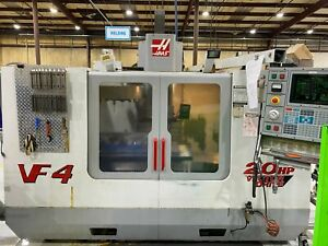 Haas Vf4 Vmc W 4th Axis Table Cat 40 Free Loading