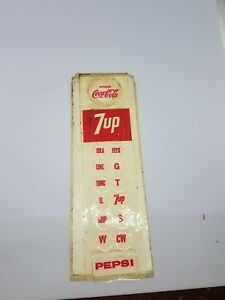 Pepsi Coke 7up Stickers For Post Mix Hand Valves 1970 Booth Inc Vintage
