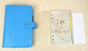 Websters Pages Planner Binder Personal Size Blue With Extras