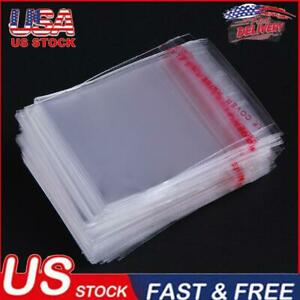 100pcs Clear Opp Bags Self Adhesive Seal Plastic Sequins Jewelry Container
