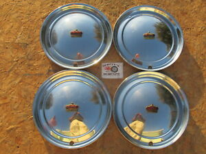 New Listing1951 1952 Chrysler Imperial 15 Wheel Covers Hubcaps Set Of 4