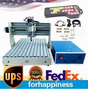 4axis 3040 Cnc Router Engraver Wood Engraving Milling Machine 400w W controller