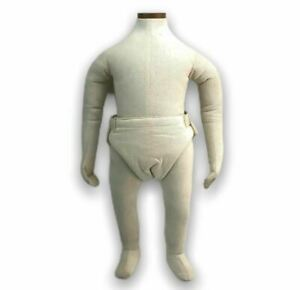 Baby Infant 8 Months Bendable Mannequin Form Display Full Body Muslin Hanging