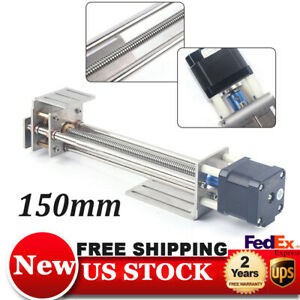 Cnc Z Axis Router Linear Slides Ball Screw 150mm With 4wire Stepper Motor 8825