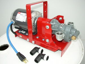 New Portable Waste Oil Transfer Pump heaters burners furnace Free Shipping