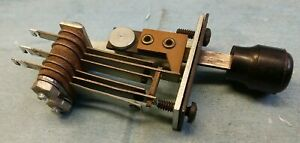 Spst Momentary Leaf Contacts Lever Switch Electronic Vintage Mid Century Modern