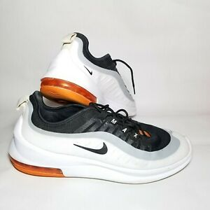 Size 8 Nike Air Max Axis Black White Magma Orange men#x27;s shoes great condition $43.17