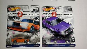 Lot of 2 Hot Wheels Fast amp; Furious Japan Historics 2: RX 3 and Skyline C210 $30.00