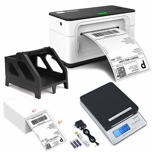 Usb Thermal Shipping Label Barcode Printer shipping Scale label Holder For Usps