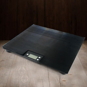 220lbs Lcd Digital Bench Scale Rechargeable Power Pet Dog Cat Postal 100kg Weigh