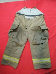 Mfg 2007 Lion Janesville 46r Firefighter Turnout Bunker Gear Pants Rescue Tow