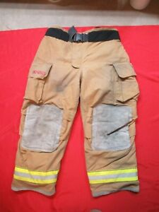 Mfg 2007 Globe Gxtreme 44 X 30 Firefighter Turnout Bunker Pants Fire Rescue