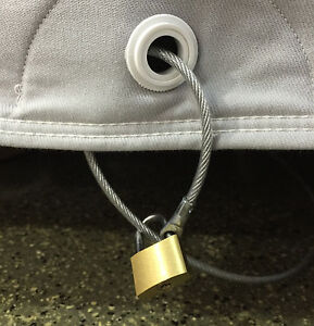 California Car Cover Cable Lock Cover Theft Deterrent Security Kit