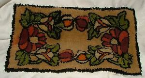 Antique Small 18 X 11 Hand Hooked Rug Table Runner Lovely Colors