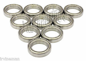 10 Ball Bearings 10x19x5 Chrome Steel Bearing Abec 5