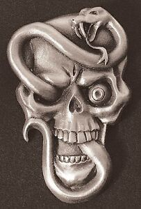 Snake Skull Dash Plaque Guitar Rat Rod Emblem 8