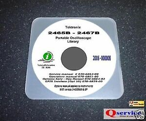Tektronix Tek 2465b 2467b Service ops gpib options Hi Resolution Manuals Cd