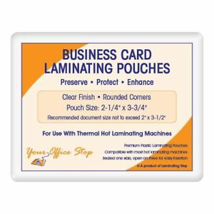 500 Business Card Laminating Laminator Pouches 7 Mil