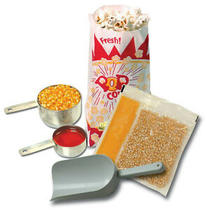 Popcorn Machine Supplies Starter Kit For 6 Oz Poppers