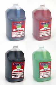 Snow Cone Syrup 4 one Gallon Jugs For Snow Cone Machine You Choose The Flavors
