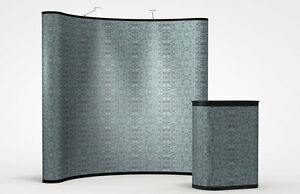 8ft Fabric Trade Show Pop up Display Booth Brand New Full Package