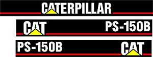 Caterpillar Ps 150b Pneumatic Compactor Decal Set