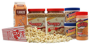 Basic Home Theater Popcorn Machine Supplies Kit White Corn