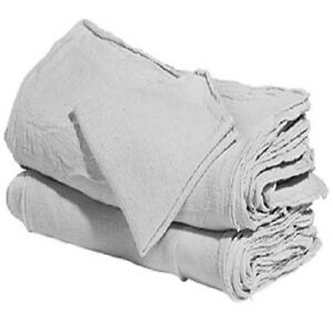 1000 Industrial Shop Rags Cleaning Towels Large 15x15 White Commercial Towels