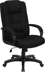 High Back Black Fabric Computer Office Desk Chair