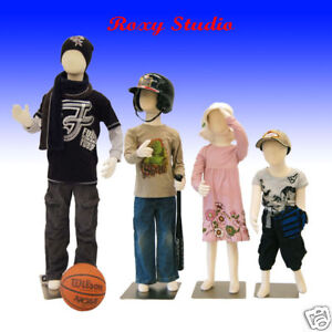 4 Pcs Children Bendable Pinnable Full Body Form Flex Group ch3579t