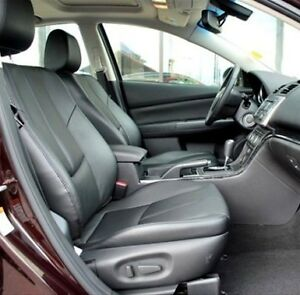 2010 Mazda 3 Leather Interior Seat Covers Black