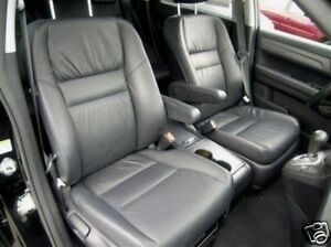 2007 2009 Honda Crv Leather Interior Seat Covers Black