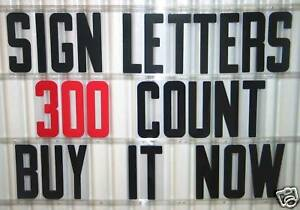 New 8 Plastic Outdoor Reader Board Marquee Sign Letters