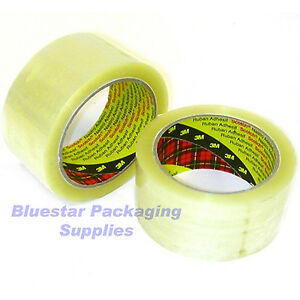 12 Rolls Of 3m Scotch Clear Packing Tape 48mm X 66m