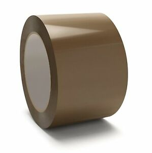 Premium Brown tan Carton Box Sealing Packing Tape 2 Mil 3 X 110 Yards 24 Rolls